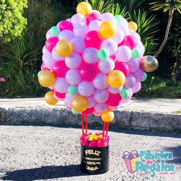 regalo con globos